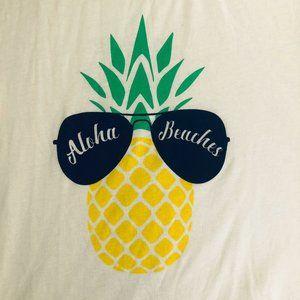 "NWT - ""Aloha Beaches"" T-shirt  - Sz S/M"